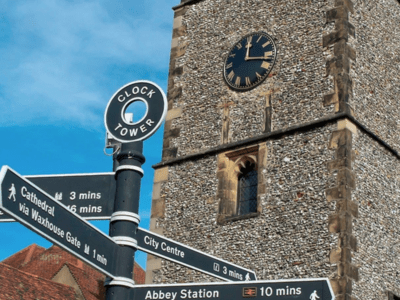 St Albans, clock tower, city tour, Youth Talk